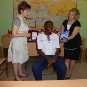 Εξεταζόμενος φοιτητής στη Θεολογική Σχολή της Κινσάσας