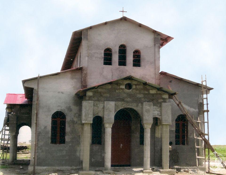 Ο ανεγειρόμενος Ι.Ν. Ευαγγελισμού της Θεοτόκου, δωρεά ανώνυμου μέλους της Αδελφότητάς μας