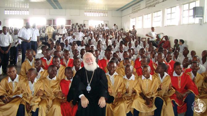 Επίσκεψη του Μακαριωτάτου σε ορθόδοξο σχολείο του Κονγκό