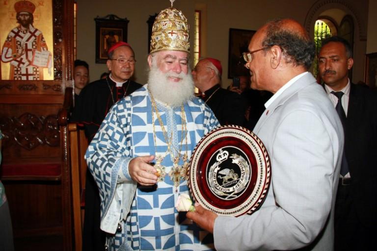 Ο Πατριάρχης Αλεξανδρείας με τον Πρόεδρο της Τυνησίας