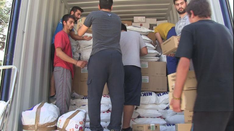 Φόρτωση container στην Αποθήκη μας στο Φίλυρο για τη Σιέρρα Λεόνε