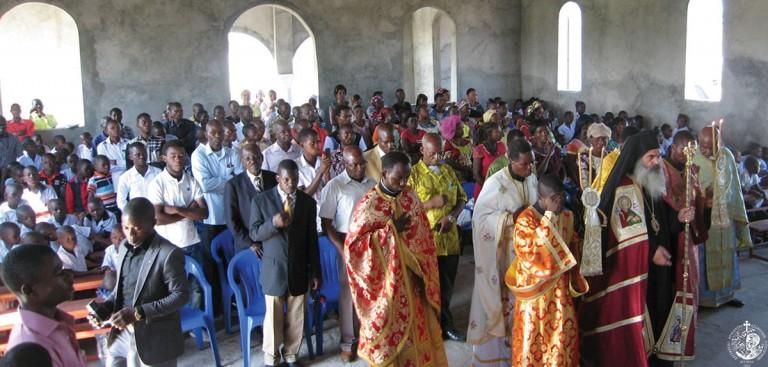Πρώτη Θεία Λειτουργία στον Ι.Ν Αρχαγγέλων Κινσάσας
